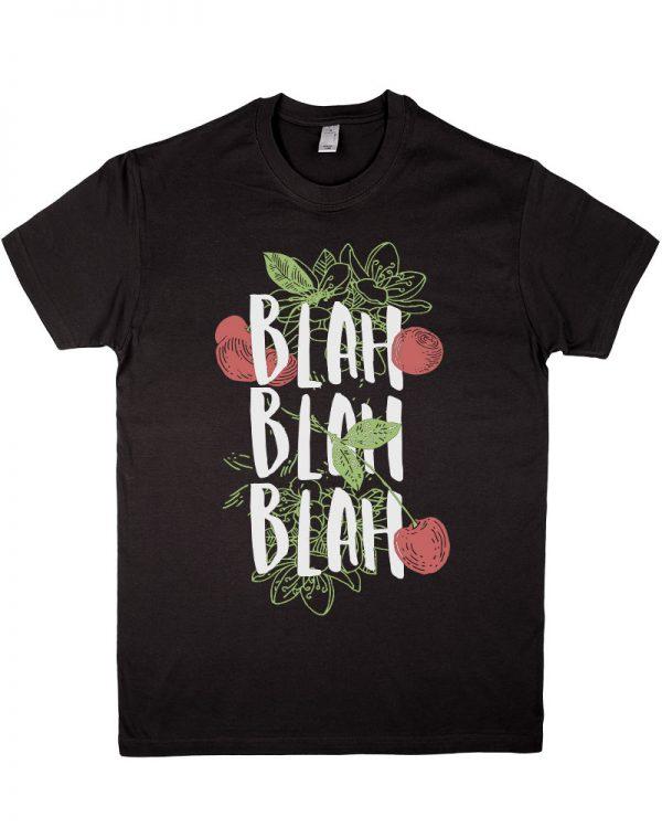Tshirt męski czarny z nadrukiem ekologicznymi farbami