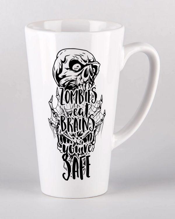 Kubek ceramiczny latte duży 450 ml z nadrukiem