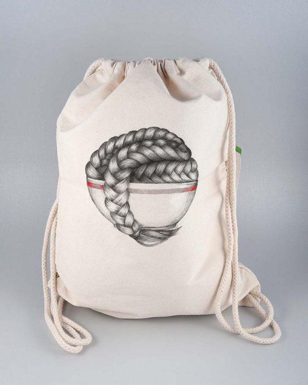 Plecak torba eko bawełna organiczna modny nadruk ekologicznymi farbami - Photoninja.pl