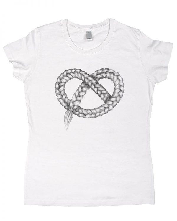 Tshirt damski biały modny nadruk ekologicznymi farbami nie spiera się - Photoninja.pl