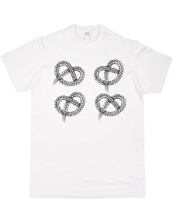 Tshirt meski biały premium modny nadruk ekologicznymi farbami - Photoninja.pl